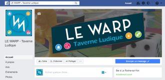 Page Facebook le WARP taverne Ludique