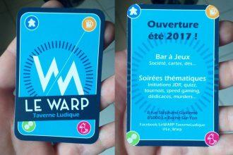 Cartes de visite le Warp Taverne ludique