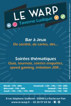 Le Warp Taverne Ludique - flyer