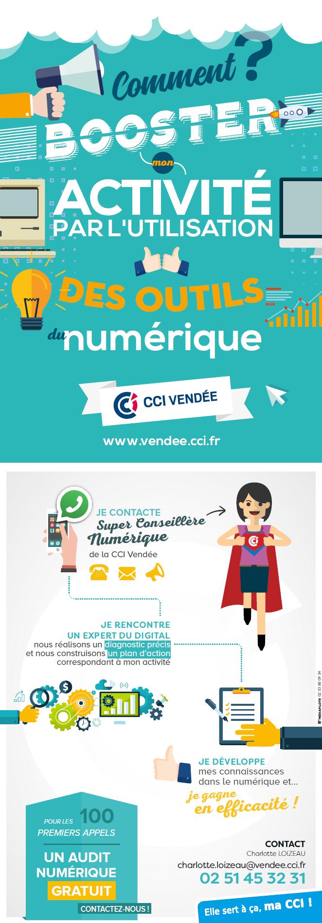 Infographie CCI Vendée évaluations numériques