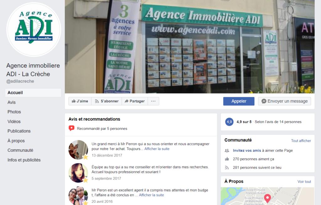 Formation Facebook CCI Deux Sèvres Agence ADI Immobilier