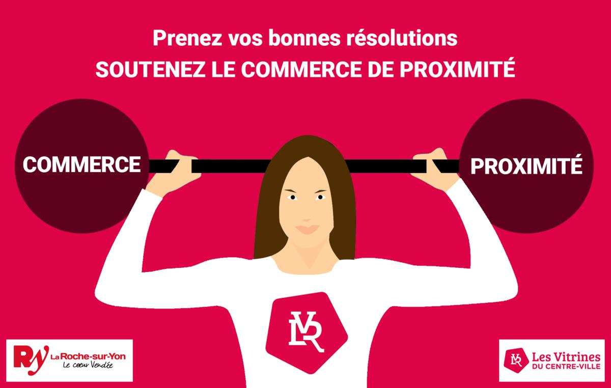 Association Vitrines du centre-ville la Roche-sur-Yon gestion réseaux sociaux et site web