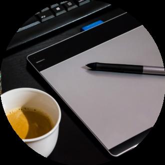 tablette graphique création logo charte graphique