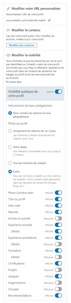 Modifier son profil LinkedIn - Lostyn Web